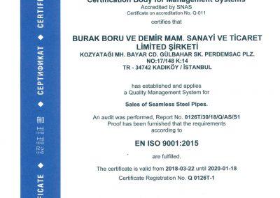 Burak Boru ISO9001:2015 EN