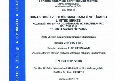 Burak Boru ISO9001 Türkçe